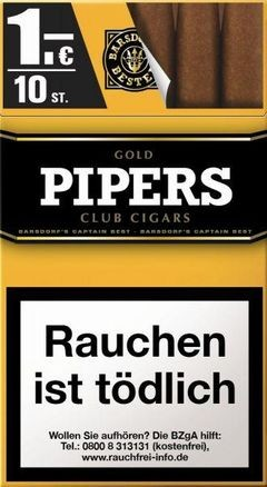 Pipers Little Cigars Gold (10 Zigarren)