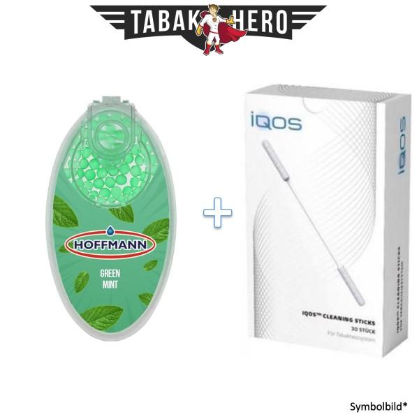 HEETS / IQOS Cleaning Sticks + 1x Aromakugeln Green Mint 100 stk.
