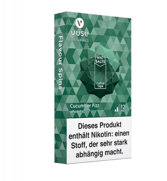 5 x 2 Vuse (Vype) ePod Caps Cucumber Fizz 12mg