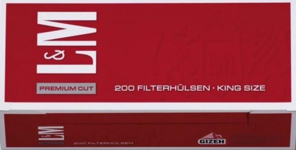2000 Stück L&M Red Hülsen Filterhülsen Zigarettenhülsen Stopfhülsen