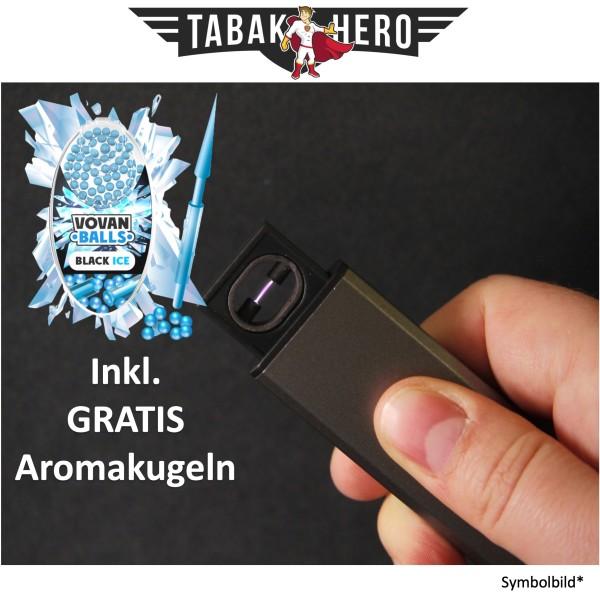 Edles Lichtbogen USB Feuerzeug + Gratis Vovan Aromakapseln Black Ice
