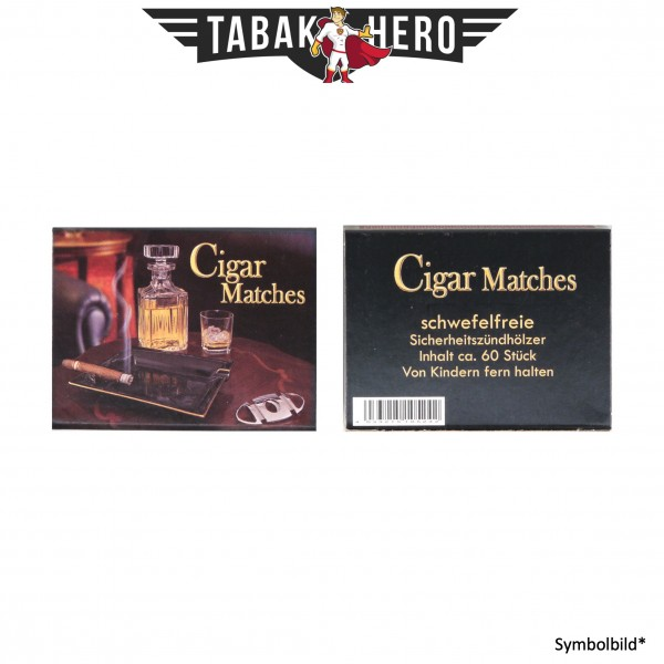 Zigarrenholz Streichholz schwefelfrei ca. 60 Stück Holzlänge 55mm