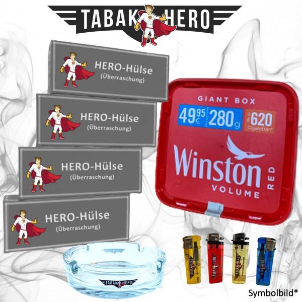 AKTION! 280g Winston Red Giantbox Tabak Eimer, Hülsen + Zubehör, Stopftabak,Volumentabak