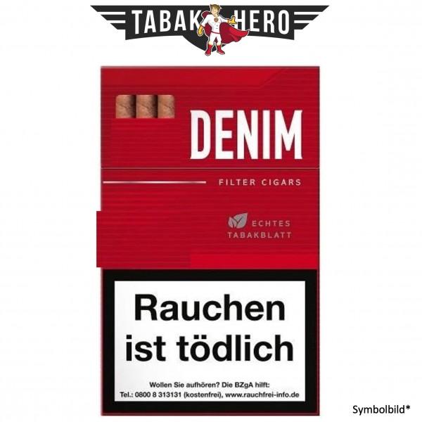 Denim Red L-Box FC (HTL Deckblatt) (17 Zigarillos)