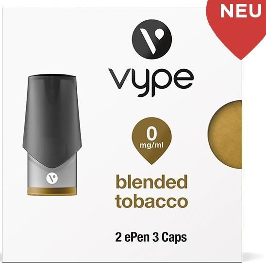 Vuse (Vype) ePen Caps Blended Tobacco 0mg