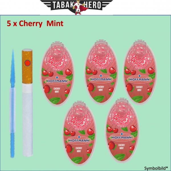 5 x Aromakugeln CHERRY MINT für Zigaretten, Heets, Neo Sticks -Aromakapseln