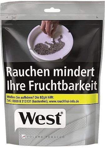 West Silver Volume Tobacco Tabak 105g Beutel (Stopftabak / Volumentabak)