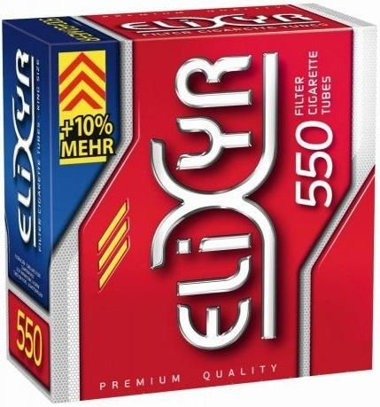 Elixyr Hülsen Filterhülsen Zigarettenhülsen Stopfhülsen 550 Stück