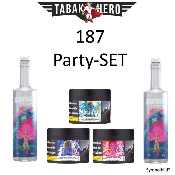 187 Party-Set 2x Karneval Vodka + 3x 187 Shisha Tabak