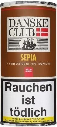 5x Danske Club Sepia (Caramel) Tabak 50g Pouch (Pfeifentabak)