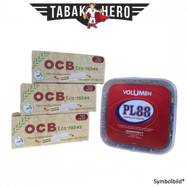 400g PL88 Red Tabak , 750 OCB Organic Hülsen (Stopftabak Volumentabak)