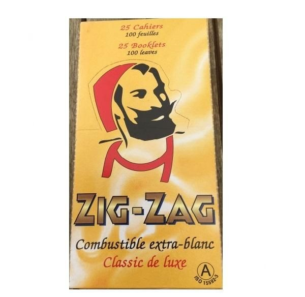 25 x 100 Blatt Zig Zag Gelb No 602 Drehpapier/ Blättchen/ Zigarettenpapier