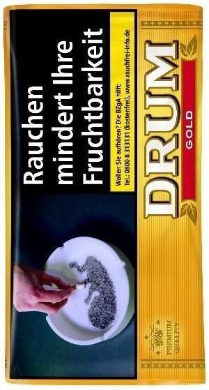 Drum Gold 30g Tabak mit zusätzlichenŠ Zusätzen (Drehtabak / Feinschnitt)