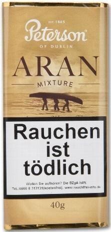 5x Peterson Aran Mixture Tabak 40g Pouch (Pfeifentabak)