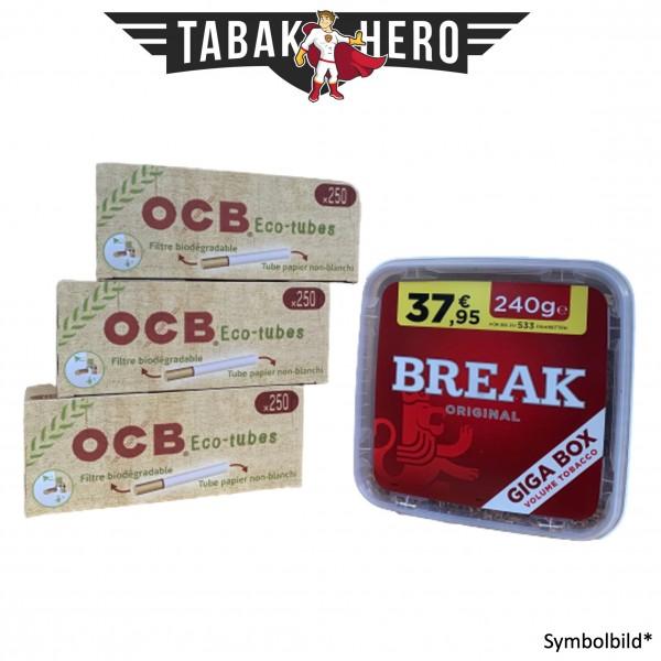 230g Break Original Tabak, 750 OCB Organic Hülsen (Stopftabak Volumentabak)