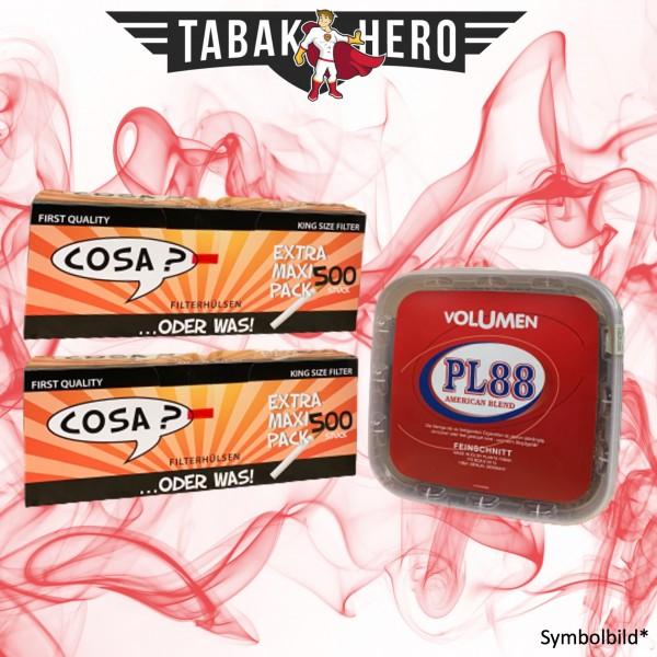 400g PL88 Red Tabak / Volumentabak, 1.000 Cosa Hülsen (Stopftabak Volumentabak)