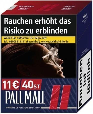 Pall Mall Red (Stange / 5x38 Zigaretten)