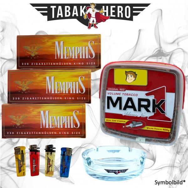 400g Mark Adams No1 Tabak Eimer (Stopftabak / Volumentabak) + 750 Hülsen + Zubehör