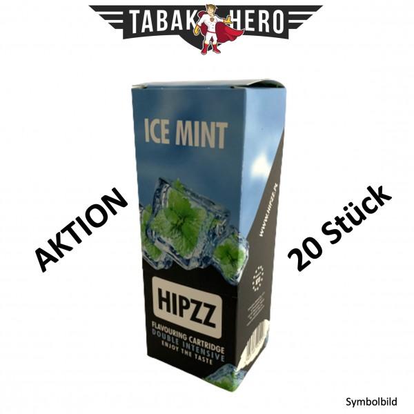 HIPZZ Aromakarten Ice Mint (Pfefferminz) - 20 Stück Aroma Karten (wie Rizla)