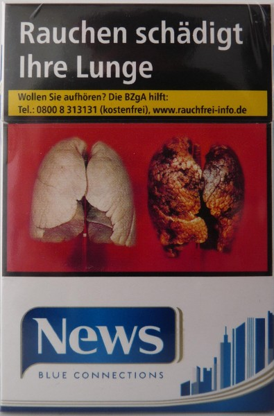 News Blue Connections (Stange / 8x25 Zigaretten)