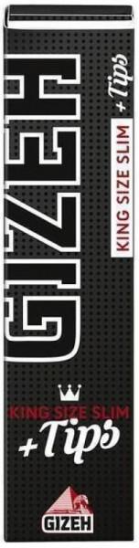 Gizeh Black KS Slim + Filter Tips Drehpapier/ Blättchen/ Zigarettenpapier