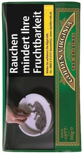 10x Golden Virginia Tabak 50g Pouch (Drehtabak / Feinschnitt)
