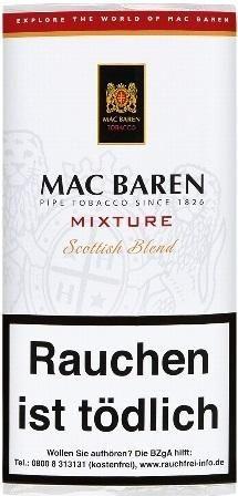 5x Mac Baren Mixture (Scottish Blend) Tabak 50g Pouch (Pfeifentabak)