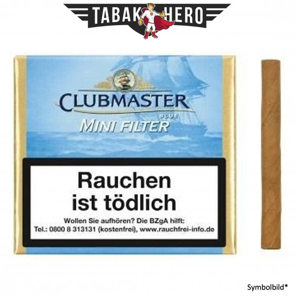 Clubmaster 282 Mini Filter Blue Blue Gold (5x20 Zigarillos)