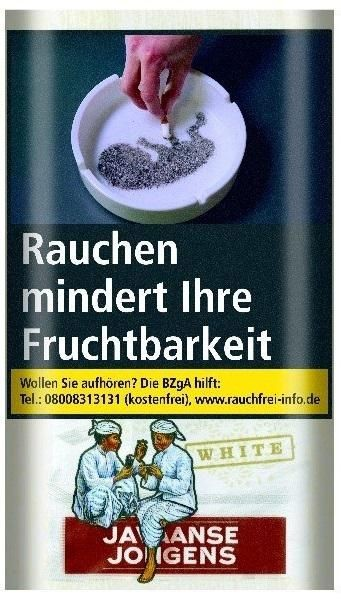 Javaanse Jongens White Tabak 30g Pouch (Drehtabak / Feinschnitt)
