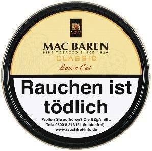 Mac Baren Classic Loose Cut (Vanilla Cream) Tabak 100g Dose (Pfeifentabak)