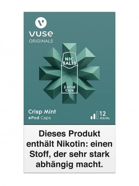 5 x 2 Vuse (Vype) ePod Caps Crisp Mint 12mg