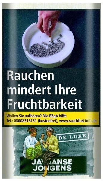 6x Javaanse Jongens De Luxe (Sterke) Tabak 30g Pouch (Drehtabak / Feinschnitt)