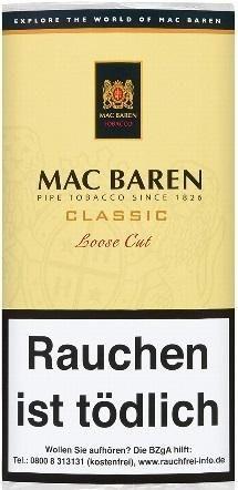 5x Mac Baren Classic Loose Cut (Vanilla Cream) Tabak 50g Pouch (Pfeifentabak)