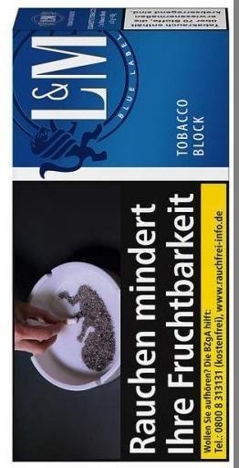 L&M Tobacco Blue Block Tabak 42g Pouch (Drehtabak / Feinschnitt)