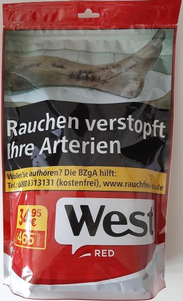 West Red Volumen Tabak 185g Beutel (Stopftabak / Volumentabak)