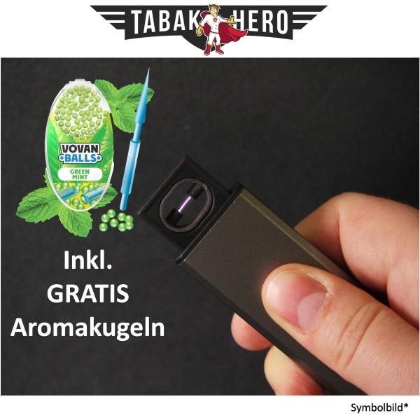 Edles Lichtbogen USB Feuerzeug + Gratis Vovan Aromakapseln Green Mint