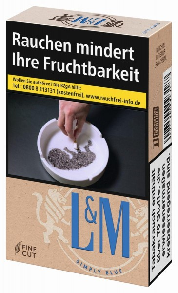 L&M Simply Blue Zigaretten (21 Stück)