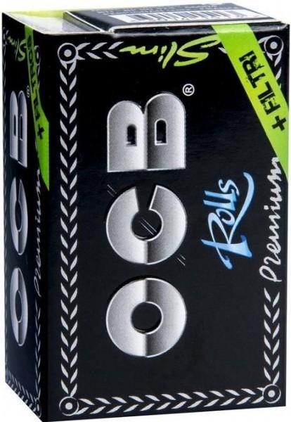 10x OCB Premium schwarz Rolls + Filter Tips Drehpapier/ Blättchen/ Zigarettenpapier