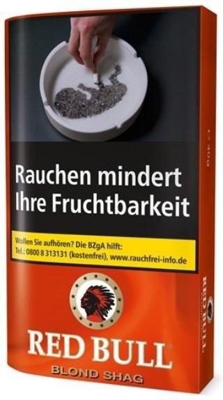 5x Red Bull Blond Tabak 40g Pouch (Drehtabak / Feinschnitt)