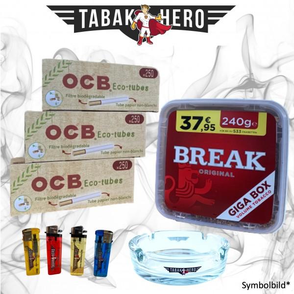 240g Break Original Tabak, 750 OCB Organic Hülsen Stopftabak Volumentabak