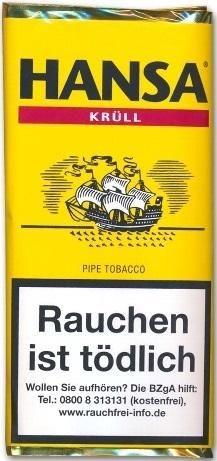 5x Hansa Krüll Tabak 50g Pouch (Pfeifentabak)