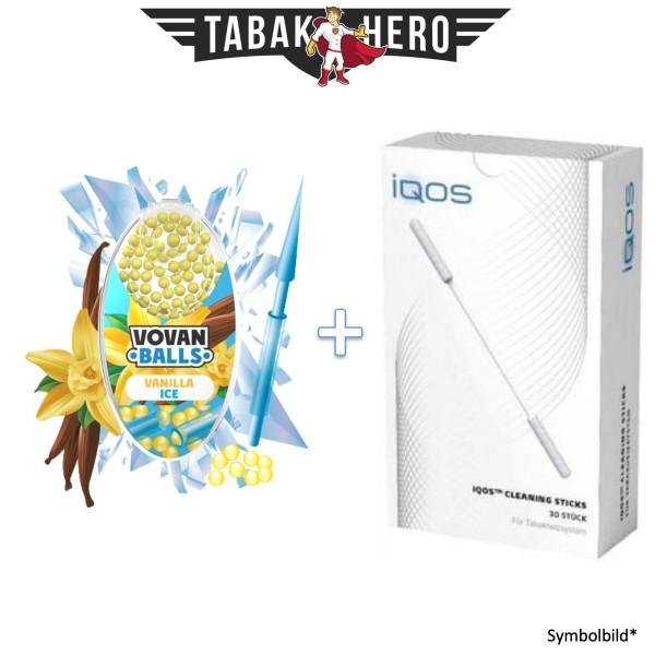 HEETS / IQOS Cleaning Sticks + 1x Aromakugeln Vanilla Ice 100 stk.