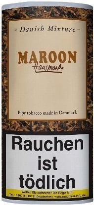 5x Danish Mixture Maroon (Choco-Nougat) Tabak 50g Pouch (Pfeifentabak)