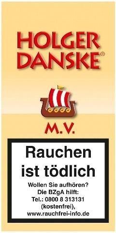5x Holger Danske M. V. (Mango Vanilla) Tabak 40g Pouch (Pfeifentabak)