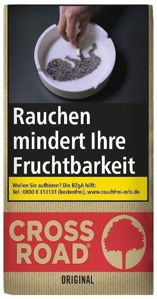 5x Crossroad Original Taste Tabak 30g Pouch (Drehtabak / Feinschnitt)