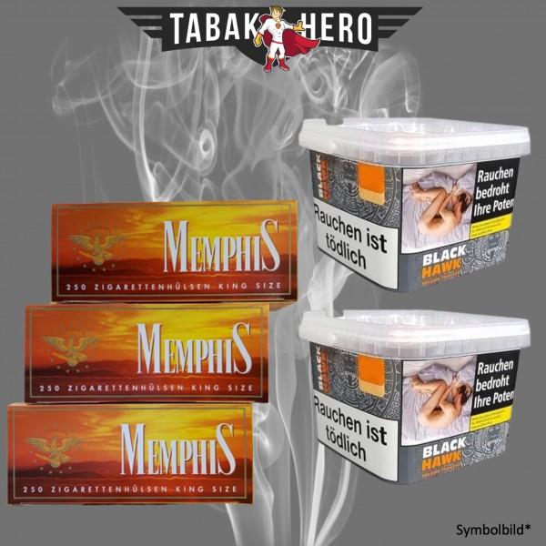 2 x Black Hawk Mega Box 230g + 750 Memphis (OCB) Hülsen
