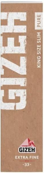 25 x 33 Blatt Gizeh Pure KS Slim Drehpapier/ Blättchen/ Zigarettenpapier