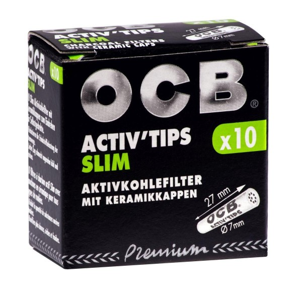 20x OCB Activ Tips Slim 7mm Filter 10er Packung