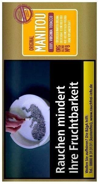 Manitou Organic Blend Gold No8 Tabak 30g Pouch (Drehtabak / Feinschnitt)