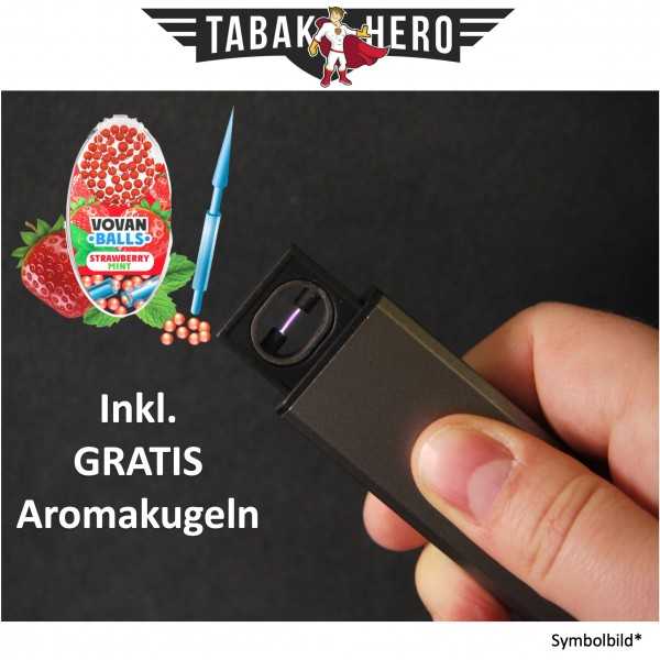 Edles Lichtbogen USB Feuerzeug + Gratis Vovan Aromakapseln Strawberry Mint
